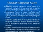 disaster response cycle