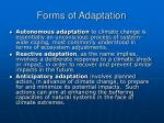 forms of adaptation