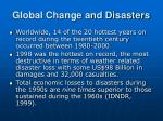 global change and disasters