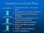 scaled environmental risks