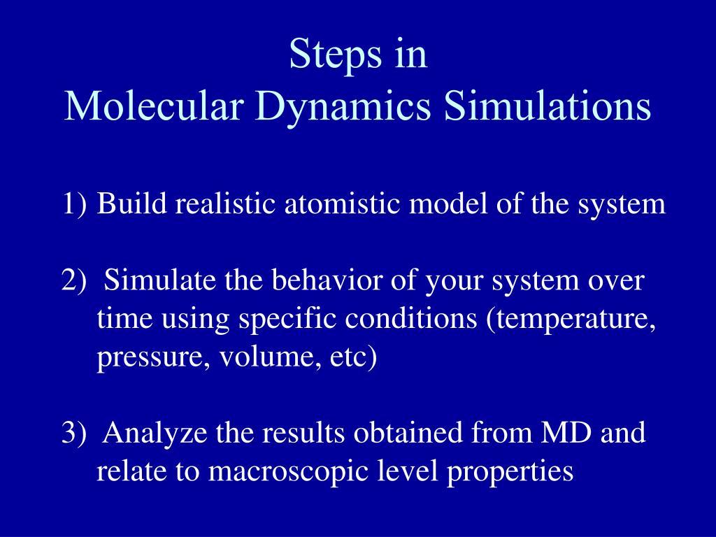 PPT - Molecular Dynamics PowerPoint Presentation - ID:426818