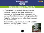 frbr implementation phase 227