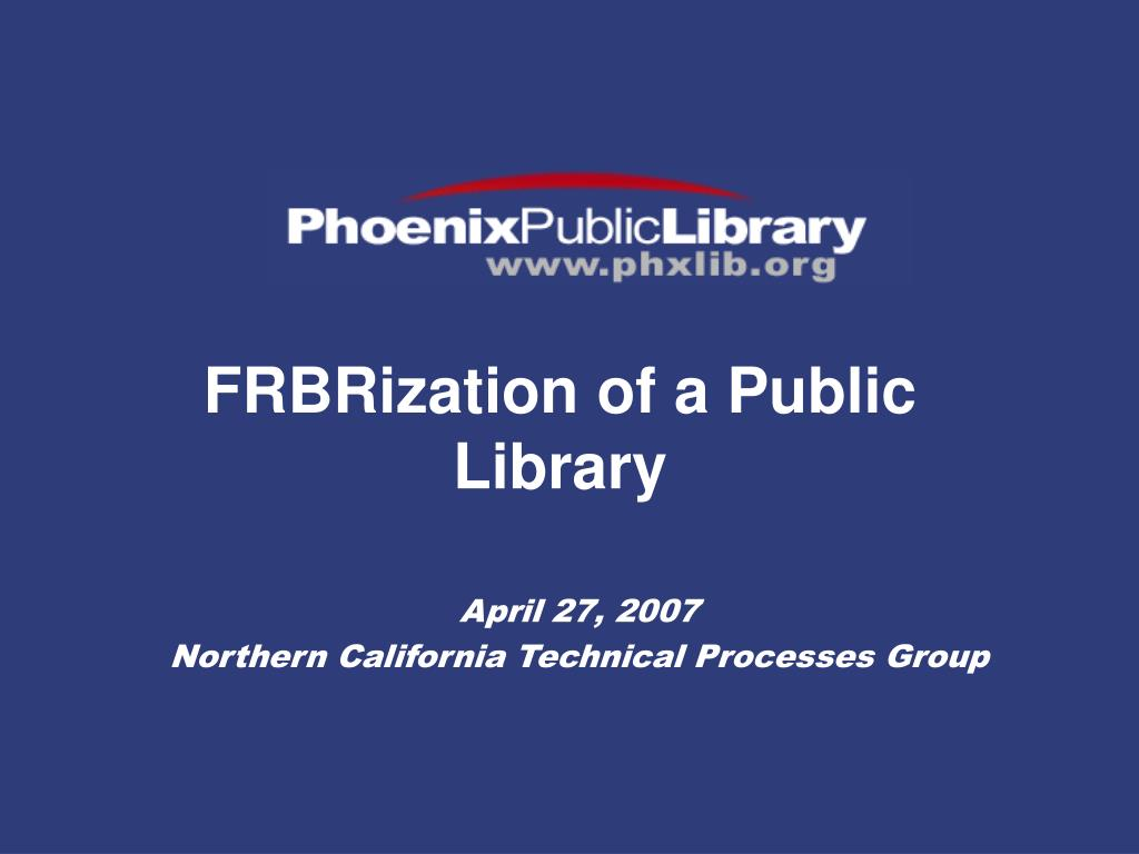 frbrization of a public library l.