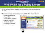 why frbr for a public library
