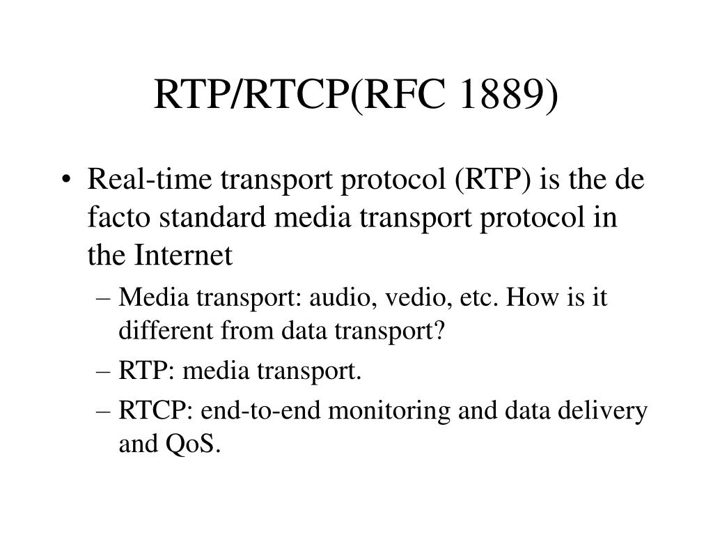 Comcast support rtp - Rtp Rtcp Rfc 1889
