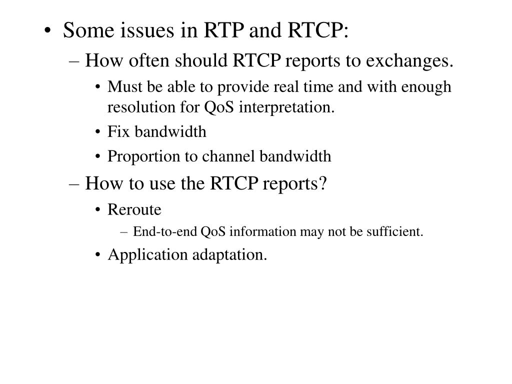 Comcast support rtp - Some Issues In Rtp And Rtcp