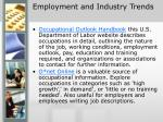 employment and industry trends