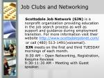 job clubs and networking