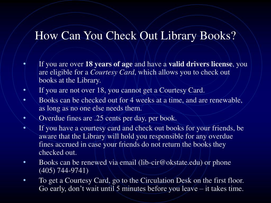 How Can You Check Out Library Books?