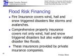 flood risk financing