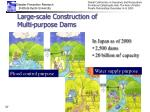 large scale construction of multi purpose dams