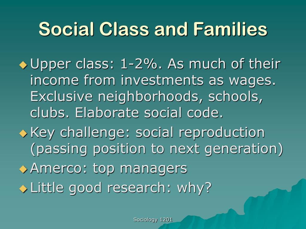 social class and families l.