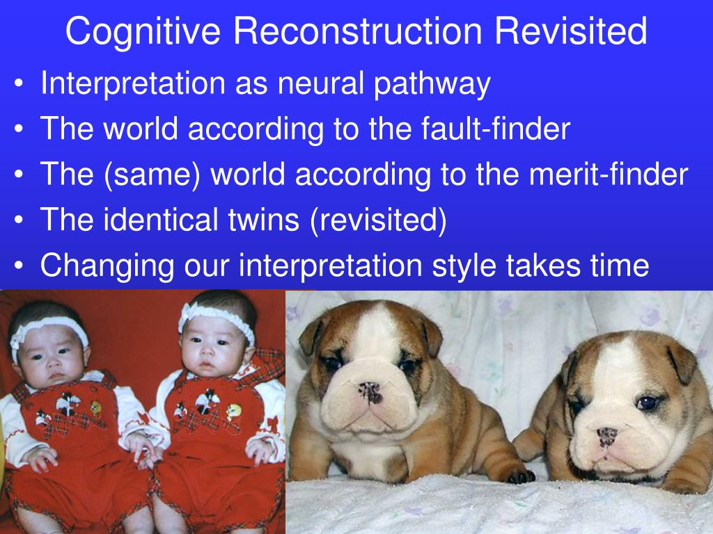 Cognitive Reconstruction Revisited