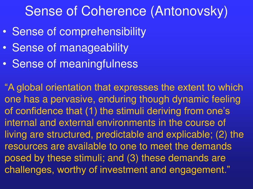Sense of Coherence (Antonovsky)