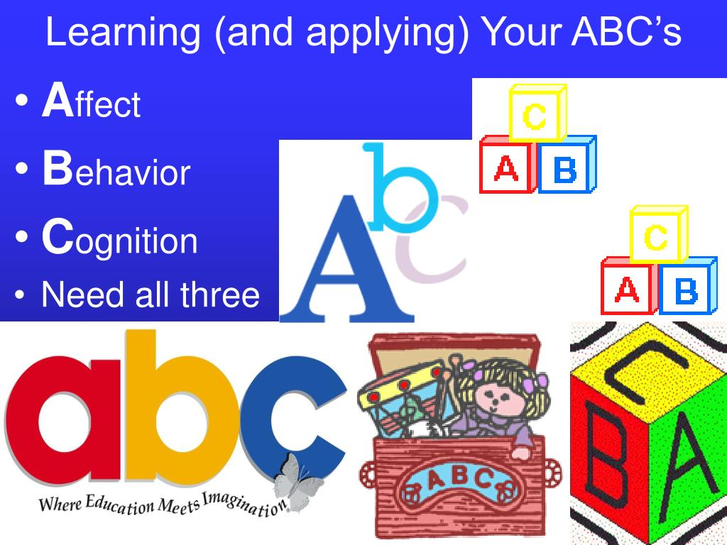 Learning (and applying) Your ABC's
