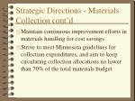 strategic directions materials collection cont d6