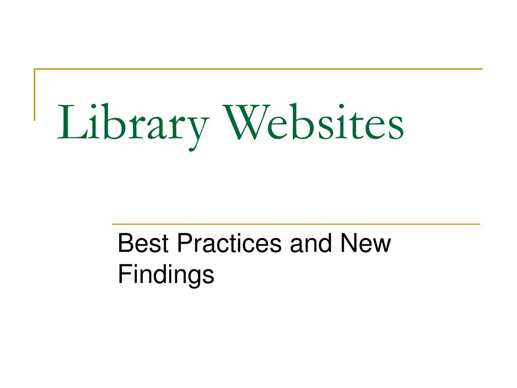 library websites l.