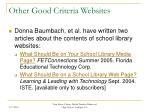 other good criteria websites