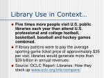 library use in context