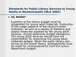 standards for public library services to young adults in massachusetts mla 2005