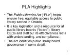 pla highlights