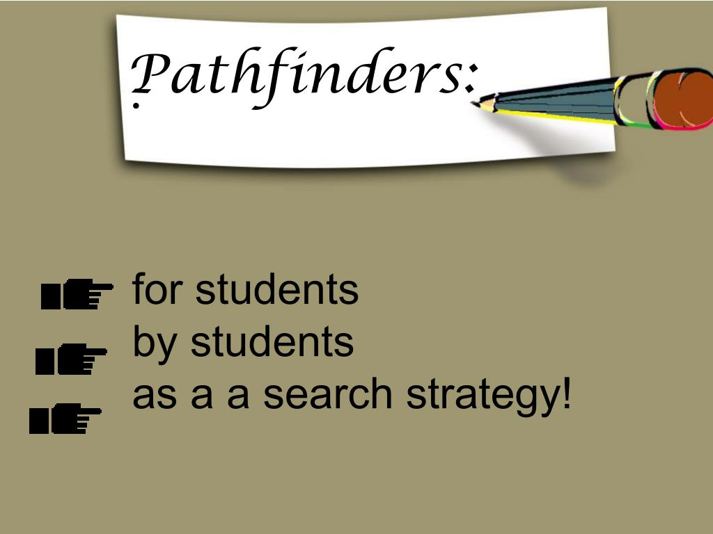 for students by students as a a search strategy l.