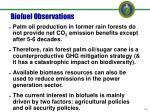 biofuel observations