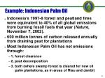example indonesian palm oil