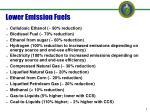 lower emission fuels