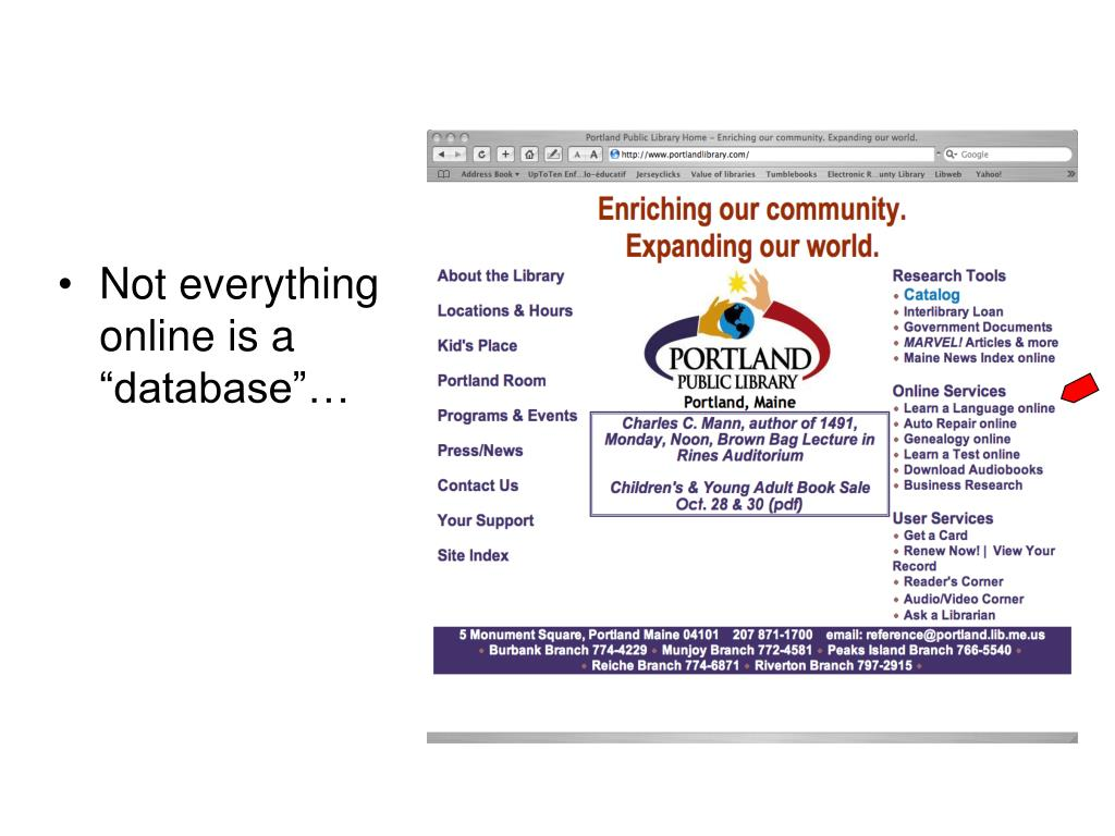 """Not everything online is a """"database""""…"""