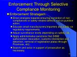 enforcement through selective compliance monitoring19
