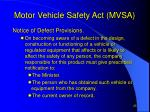 motor vehicle safety act mvsa25