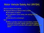motor vehicle safety act mvsa26