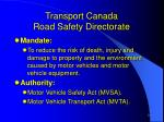 transport canada road safety directorate