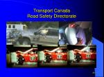 transport canada road safety directorate28