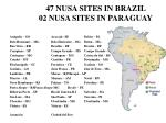 47 nusa sites in brazil 02 nusa sites in paraguay