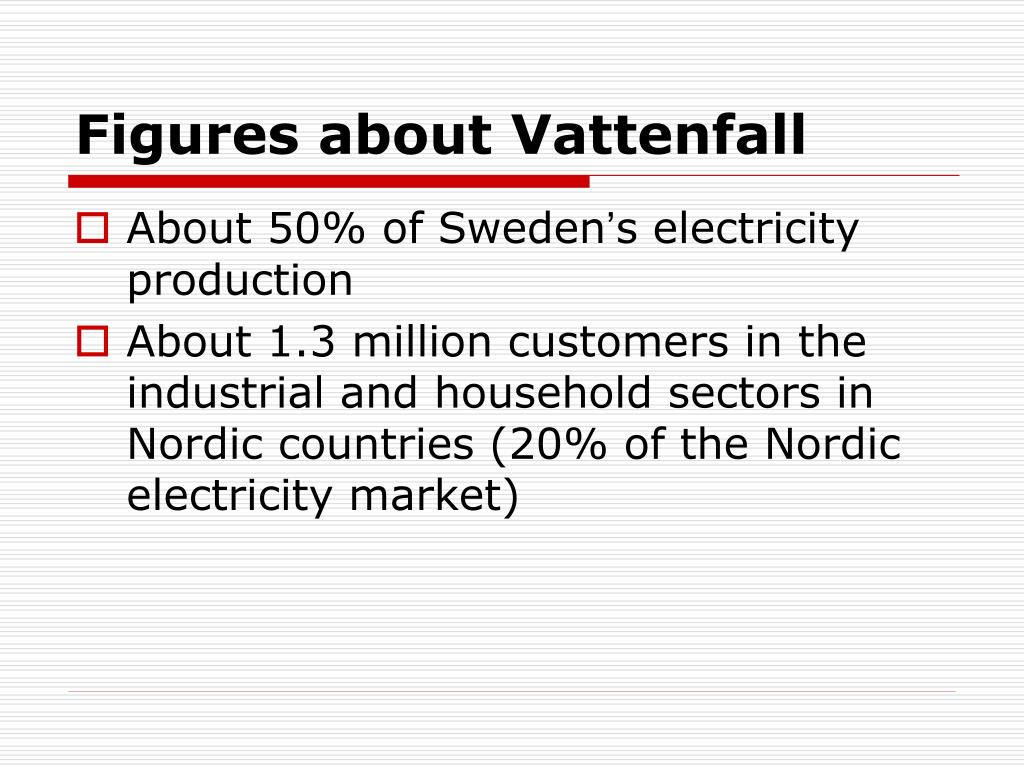 Figures about Vattenfall