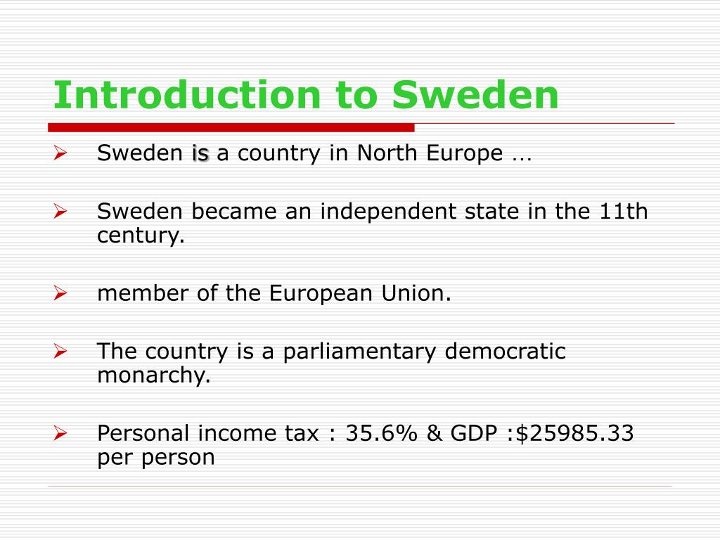 Introduction to Sweden