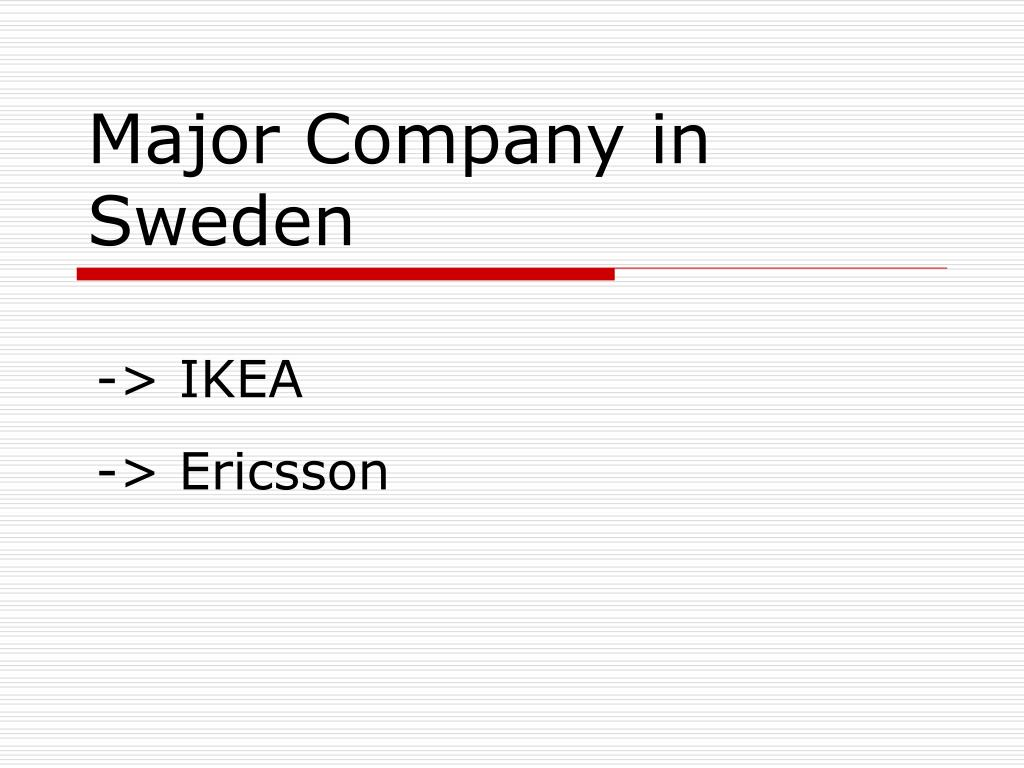 Major Company in Sweden
