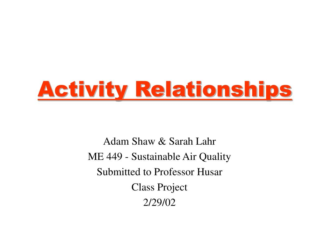 activity relationships l.