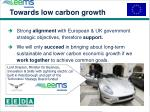 towards low carbon growth11
