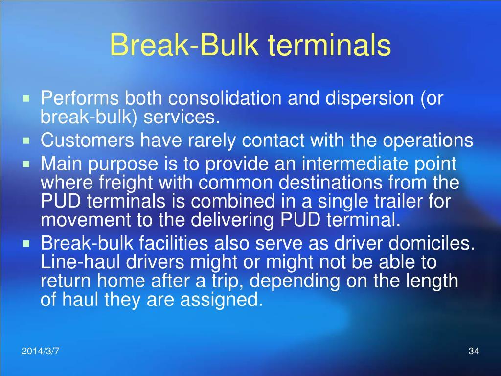 Break-Bulk terminals