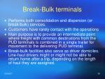 break bulk terminals