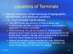locations of terminals