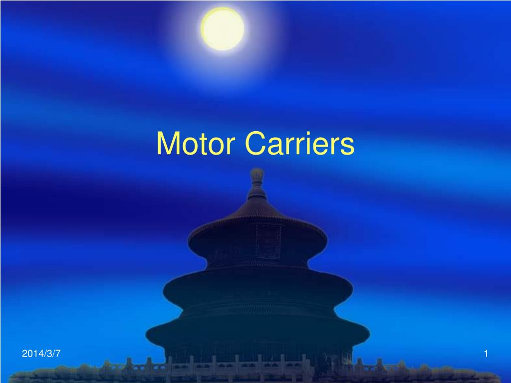 motor carriers l.