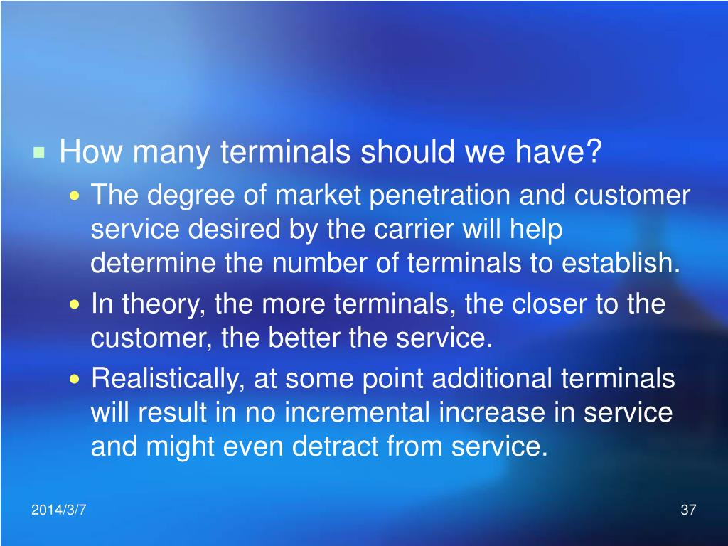 How many terminals should we have?