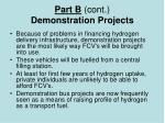 part b cont demonstration projects