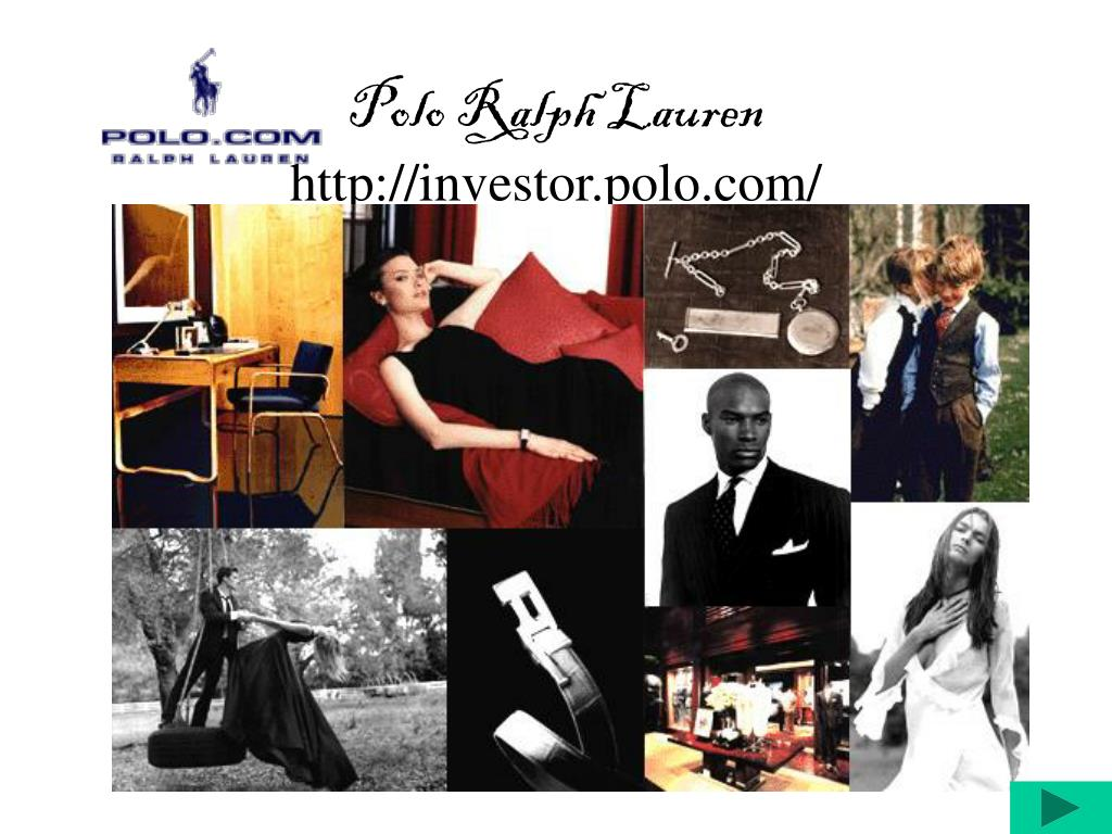 polo ralph lauren company summary Ralph lauren's marketing objectives are to increase sales revenue, cut unnecessary spending, don't exceed company's budget, sell more than the competition.