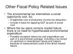 other fiscal policy related issues