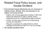 related fiscal policy issues and double dividend